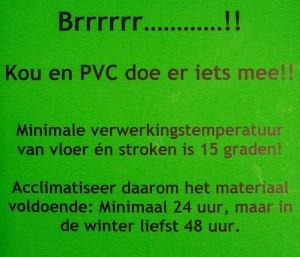 Groene sticker PVC